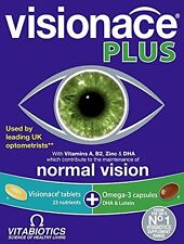 Vitabiotics Visionace Plus - 56 Tablets/Capsules EXP. 2020 UK
