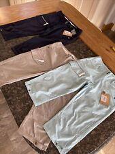 "Ladies 3/4 Length Walking Trousers Shorts Triple Pack Small 28"" Waist 17"" Leg"