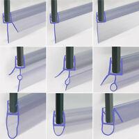 Bath Shower Screen Door Seal Strip 4-10mm Glass Door 3-23mm Gap Flat Curved