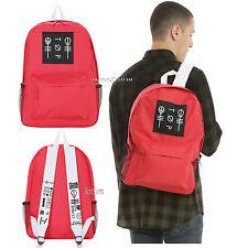 21 Twenty One Pilots Red Blurryface Band Logo School Backpack Book Bag Day Pack