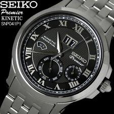 Seiko Premier Kinetic Perpetual Calendar Men's Watch SNP041P1 43mm+Box warranty