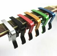 1) Guitar Capo Trigger Quick Change Key Clamp Ukulele Mandolin Acoustic Electric