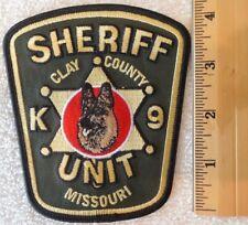 CLAY COUNTY MISSOURI K-9 SHERIFF PATCH (FIRE, HIGHWAY PATROL, EMS)