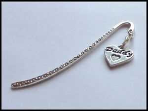 ANTIQUE SILVER 'DADDY' SWIRLS BOOKMARK DAD GIFT BIRTHDAY FATHERS DAY CHRISTMAS