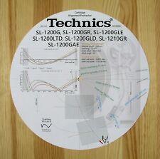 Technics SL-1200G/GR/GLE/GLD/LTD/GAE & SL-1210GR Tonearm Alignment Protractor