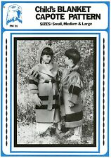 Child's Blanket Capote - Calf-length Coat S-M-L Eagle's View Sewing Pattern #91