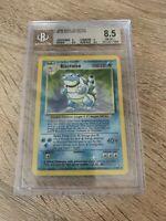 Pokémon Blastoise Holo Graded BGS 8.5 Card (PSA 9)