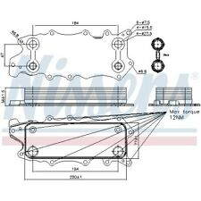 Ölkühler Kühler für Motoröl NEU NISSENS (90784)