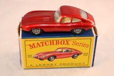 "Matchbox Lesney 32 ""E"" Type Jaguar perfect mint in box all original"