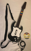 Playstation 2 PS2 Guitar Hero Red Octane PSLGH Wired Controller Black With Game