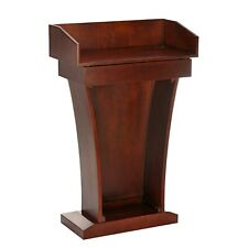 AdirOffice Cherry Wood Stand-Up Lectern Podium with Drawer and Extra Storage