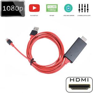 Lightning zu HDMI Konverter Digital AV TV Adapter Kabel iPad iPhone 6/6s/7/8/X