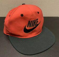 Vintage Nike Red/Black Retro Swoosh Logo Snapback Hat Kid Cap One Size