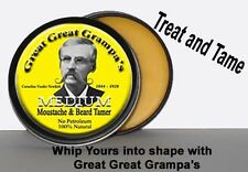 Medium Hold, Moustache & Beard Wax - 1oz. - NO-Petroleum, All-Hair, Vitamins