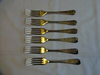 Vintage Old English Dessert Forks x 6 Silver Plated EPNS A1 S&B Sheffield 17 cm