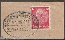 Deutsches Reich  519 x Hindenburg Bahnpost Zug 0463 Magdeburg - Köthen - Leipzig