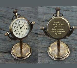 Personalized Antique Desk Clock - Table watch - Desktop clock - Custom gift