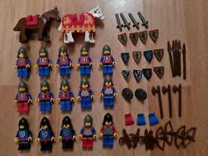 Vintage Lego Castle Minifigures, Knights, Horses & Weapons Bundle. Vintage 1980s