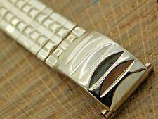 NOS Vintage Unused White Gold Filled Watch Band 16mm-19mm Expansion Bracelet