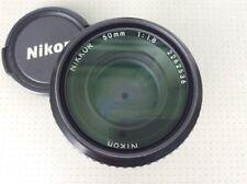 Nikon Nikkor 50mm f1.8 AIS pancake lens, UV filter, caps
