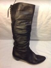 Dolcis Black Knee High Leather Boots Size 38