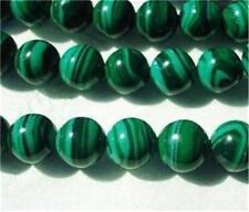 "8mm Green Malachite Gemstone Round Loose Beads 15"" AAA"