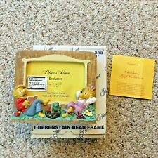 New 1991 Berenstain Bears Picture Frame Princess House #248 Hand Painted - Nib