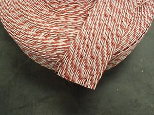 Flat Ribbon Cable 50 Conductor Red and White 50C 26ga Twisted Pair by the FT