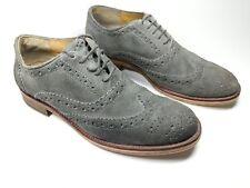 Ben Sherman grey suede leather wingtip brogue shoes uk 6 eu 40