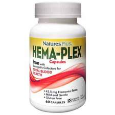 Nature's Plus Hema-Plex Iron With Synergistic Cofactors 60 Capsules