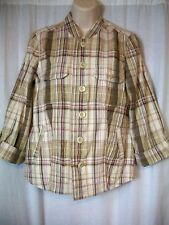 Christopher & Banks Casual Size S Brown Pink Purple 3/4 Sleeve Womens Shirt