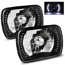 1985-2005 GMC Safari 7x6 H6052/H6054 Semi-Sealed Beam Black Diamond White LED...