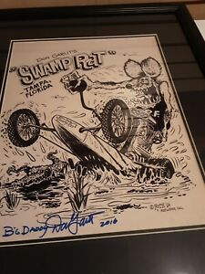 """Don Garlits """"Big Daddy"""" Swamp Rat Autographed and Framed 11x14 Photo  BECKETT CO"""