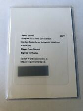 2020 Gold Standard CHASE CLAYPOOL Rookie Jersey Autograph Triple PRIME Steelers