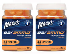 MACKS(MACK'S) EAR AMMO HI VIS 32DB FOAM EARPLUGS 50 PAIR JAR TWIN PACK 100 PAIRS