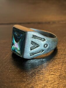 Size 6 12 CLEARANCE Amethyst and Abalone Ring
