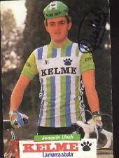 JOAQUIN LLACH cyclisme Signée KELME autograph cycling Team eddy merckx bikes