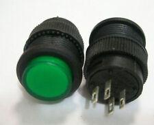 Latching Locking Green Light 3v Led Off/On 12v-110v-120v-250v Push Switch,G503L