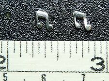 Sterling Silver Music Note design Post / Stud Earrings 1 Pair Free Ship in USA !