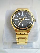 Swatch Charcoal Medal Yellow Watch YGG705G Irony Collection Genuine