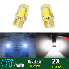 2x T10 W5W 194 168 COB 8-SMD SILICA Super Bright LED light Bulb White 6500K 12V