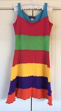 Womens Raphael Block Colour Vintage Dress Free Size