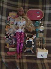 Barbie Pet Doctor Vet Veterinarian Dog Cat Used