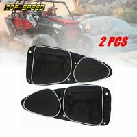 Front Side Door Storage Bags W/ Knee Pad For Polaris RZR XP 4 1000 Turbo 2014-19