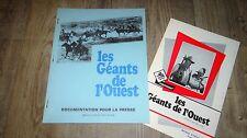 john wayne LES GEANTS DE L' OUEST dossier presse scenario cinema western 1969