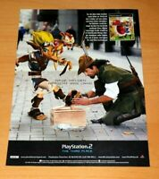 2001 Jak and Daxter PS2 Rare Official Promo Vintage Poster / Ad Art Print