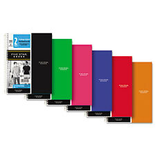 """""""Five Star Wirebound Notebook, College Rule, 6 x 91/2, WE, 100 Sheets/Pad"""""""