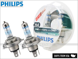H4(9003) Philips +130% X-treme Vision Halogen Bulb 12342XV+S2(Pack of 2)