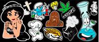 11 Weed Marijuana Cannabis Parody Vinyl Stickers
