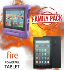 🔥 Amazon Fire 7 Tablet Family Pack! Kids Edition Purple + Original in Black 🔥